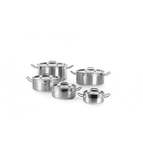 Stew pan low - with lid